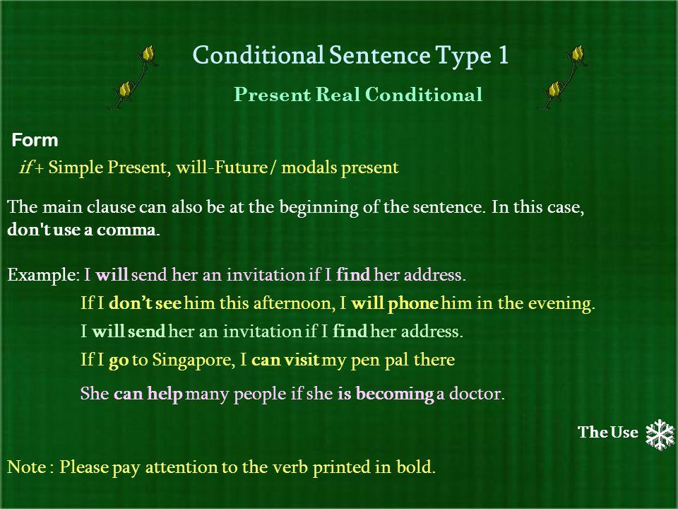 Conditional sentences ppt download conditional sentence type 1 stopboris Gallery