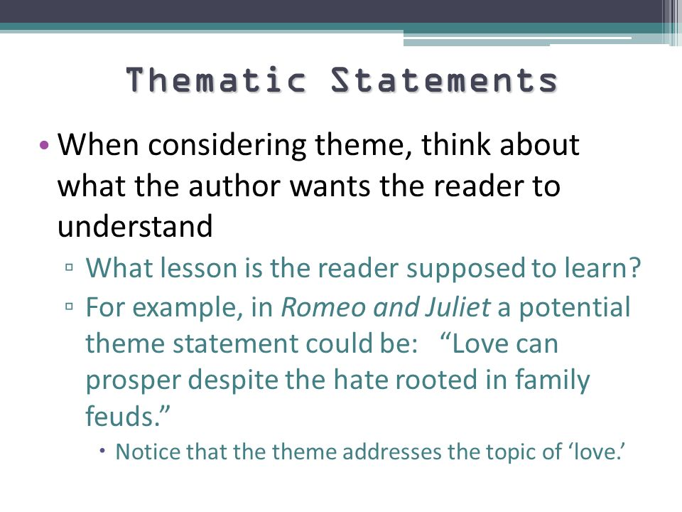 different themes in the book romeo This section suggests ways to explore the themes and characters shakespeare's themes are many and varied but all can be transposed into different romeo and.