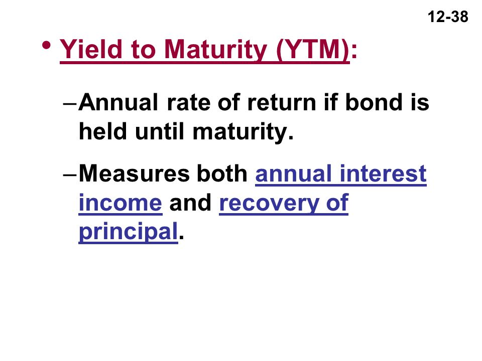 Ytm coupon rate formula