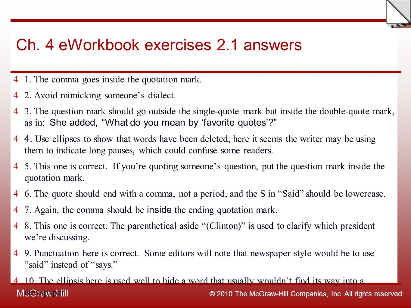 Favorite Quotation Week 11 Ch3 Eworkbook Lead Exercise  Ppt Download