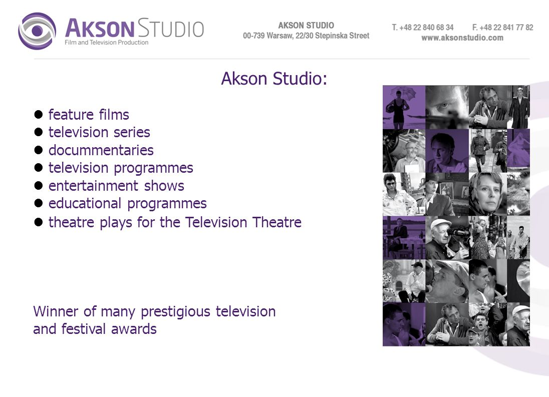 Akson Studio: feature films television series docummentaries