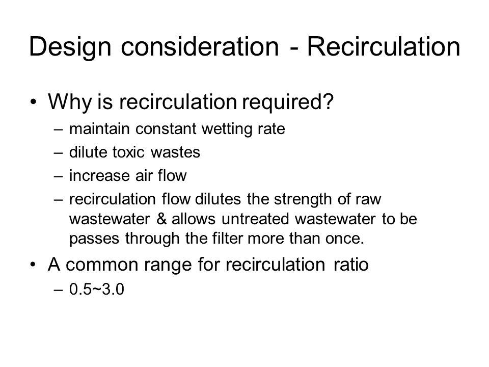 Design consideration - Recirculation