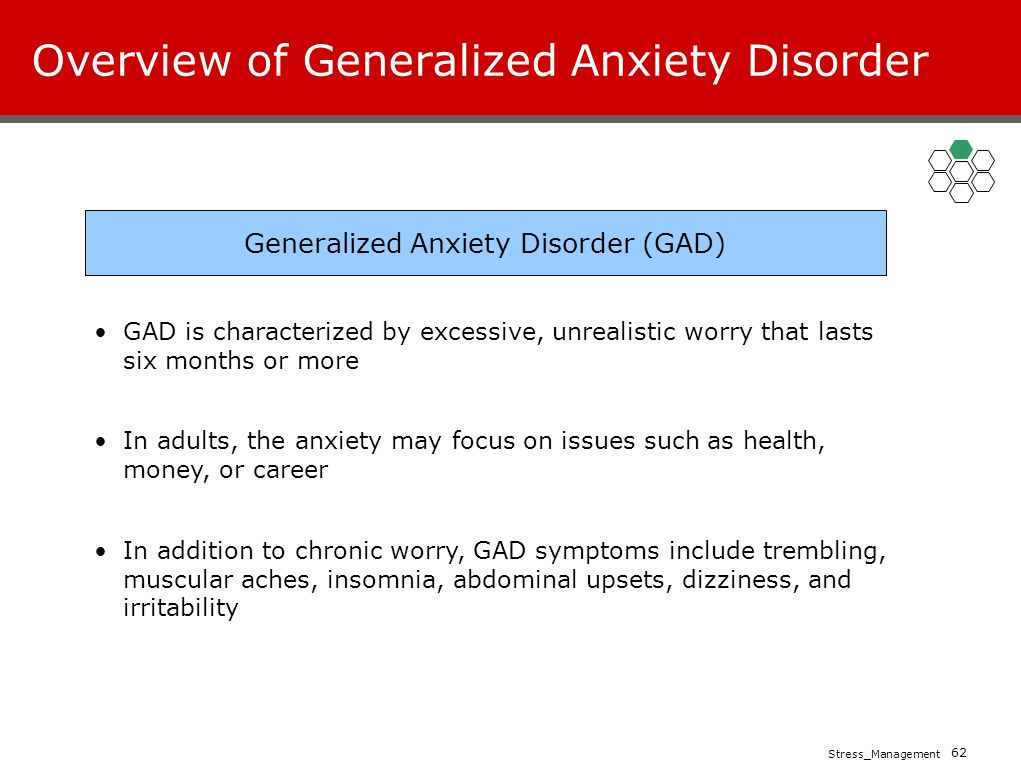 an overview of the anxiety disorder ocd Obsessive-compulsive disorder (ocd) is a brain and behavior disorder that is categorized as an anxiety disorder in the dsm-iv ocd causes severe anxiety in those affected and involves both obsessions and compulsions that interfere with daily life .