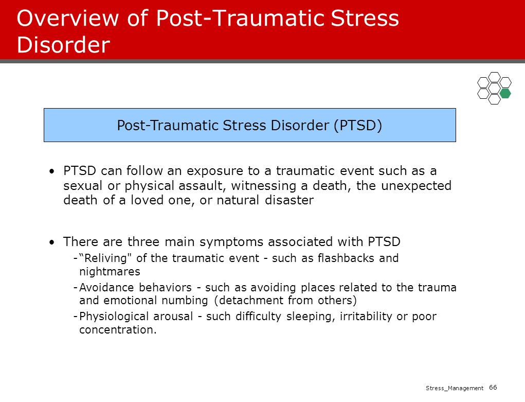 an overview of post traumatic stress disorder Mental health, military, war - overview of posttraumatic stress disorder (ptsd.