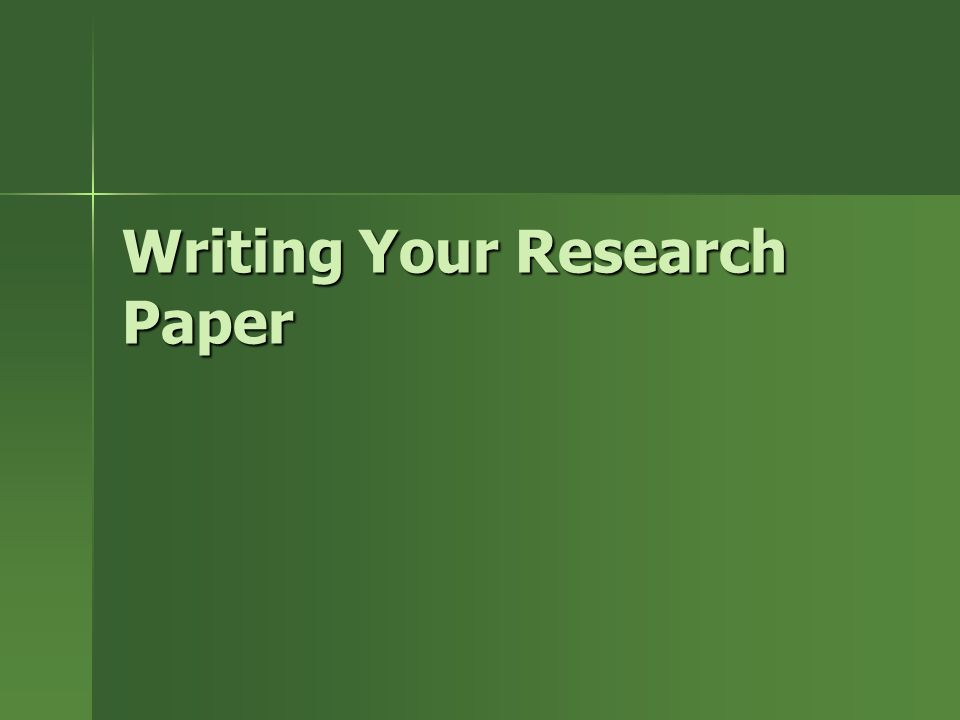 writing research paper 1 Writing a research paper is a very grown up and exciting project for many 4th graders istock_000008364215small a scientific or research article or paper is a.