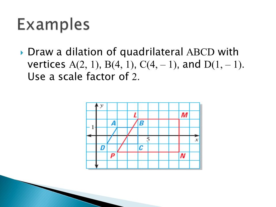 how to find the scale factor of a quadrilateral