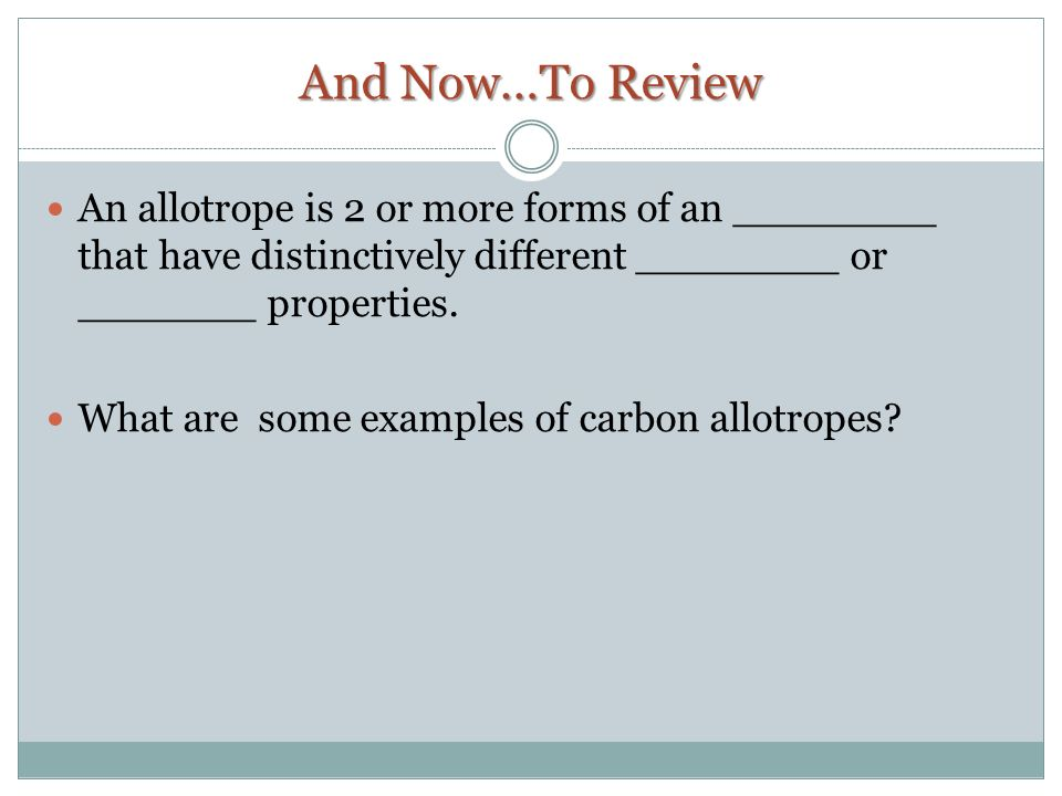 Carbon and Naturally Occurring Isotopes