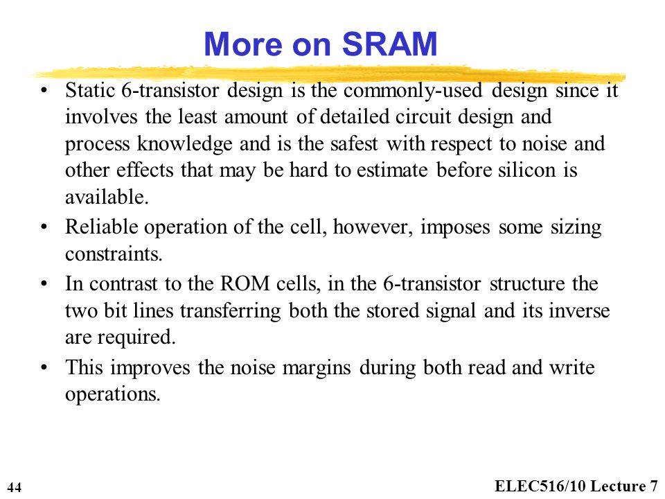 sram read write operation pdf