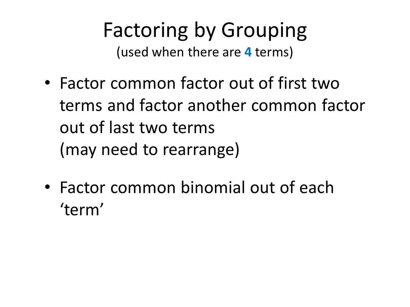 8 Factoring Learn How To Balance Equations Using