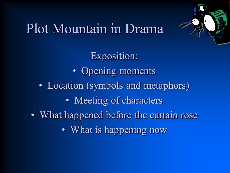 Plot Mountain in Drama Exposition: Opening moments