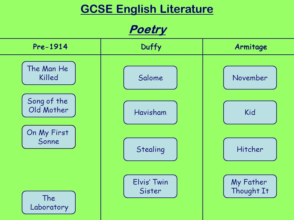 gcse english literature poetry essays Open document below is an essay on half-caste - edexcel literature poetry gcse from anti essays, your source for research papers, essays, and term paper examples.