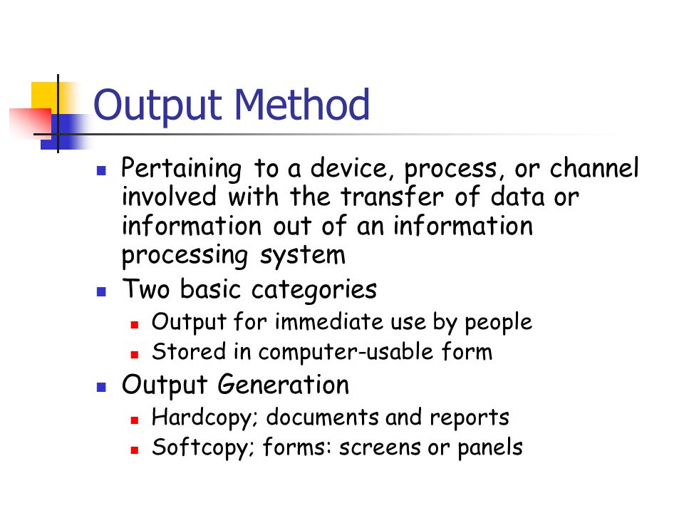 basic input and output methods The small basic language has two general methods that supports typed input the methods are part of the textwindow object we have been using the first input method ( readnumber ) allows reading numeric (integer and floating) inputs.
