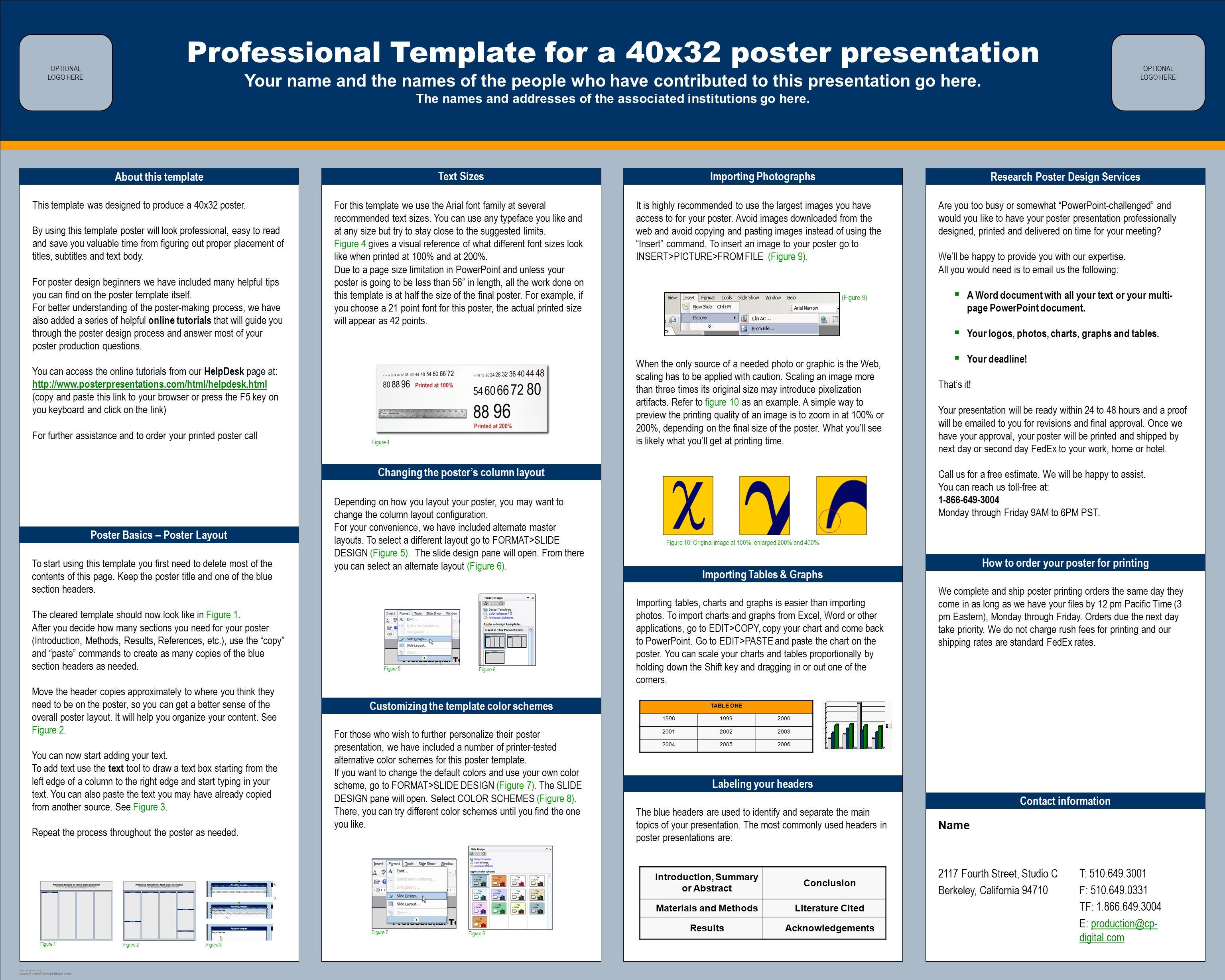Online poster board presentation