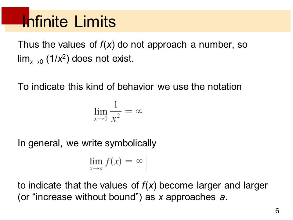 how to solve limits that approach infinity