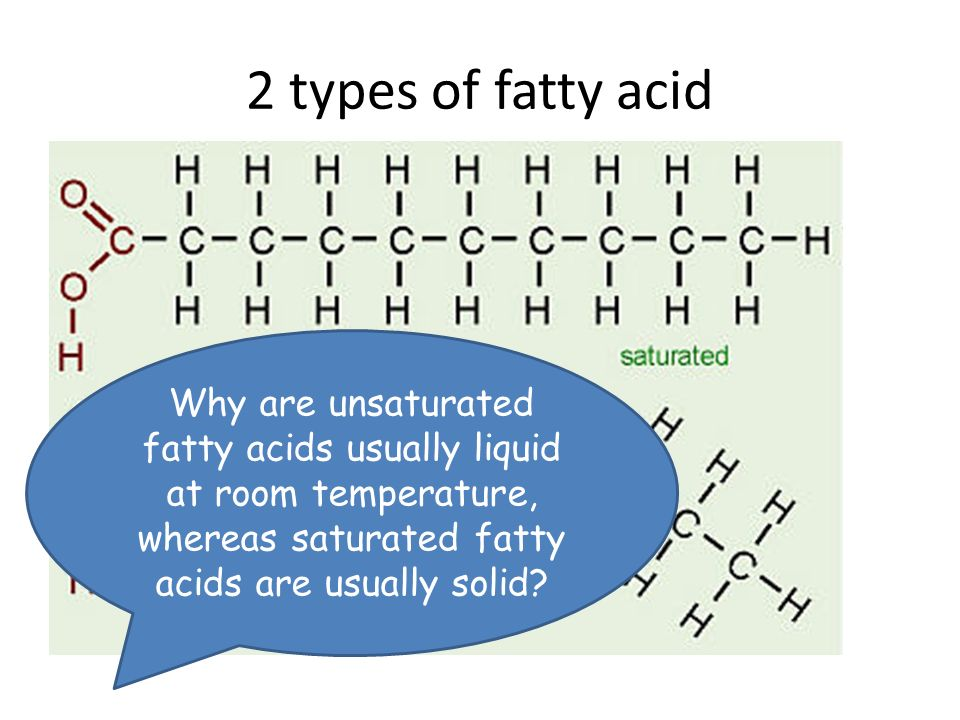 Are Long Chain Fatty Acids Solid At Room Temperature