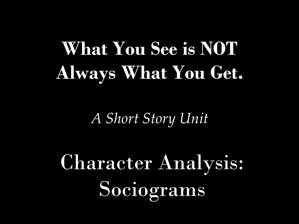 Character Analysis: Sociograms - ppt video online download
