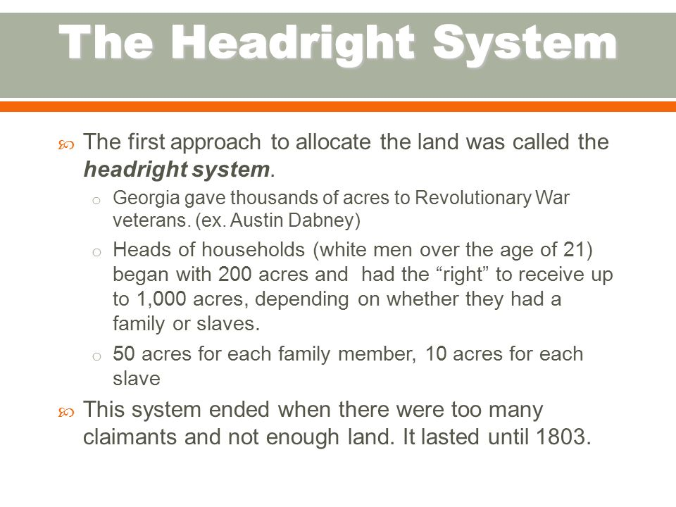 the headright system Under the headright system, indentured servants came in bulk to america because landowners were greedy for more land however, as land became scarcer, masters refused to pay indentured servants freedom dues, and so the indentured servants began to act out against them, leading to a transition to slavery.