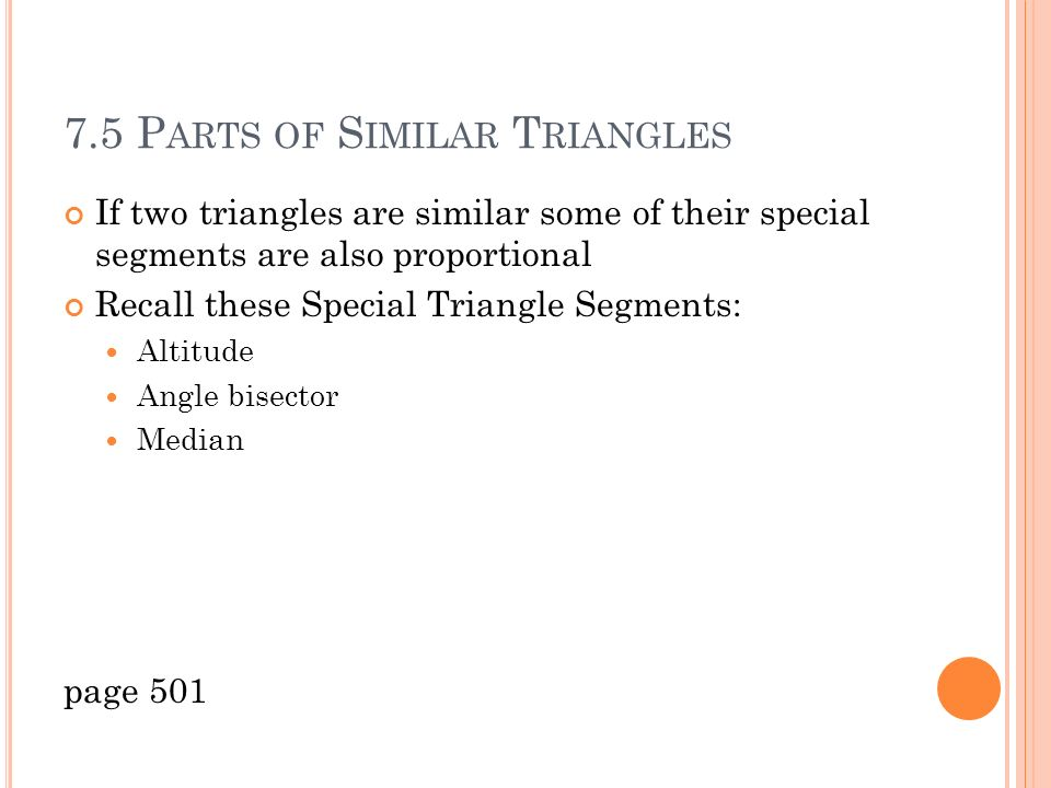 75 Parts of similar triangles ppt download – Special Segments in Triangles Worksheet