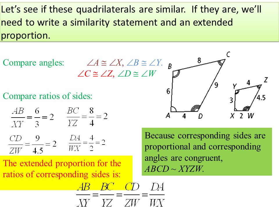 How to write a congruence statement for polygons and quadrilaterals