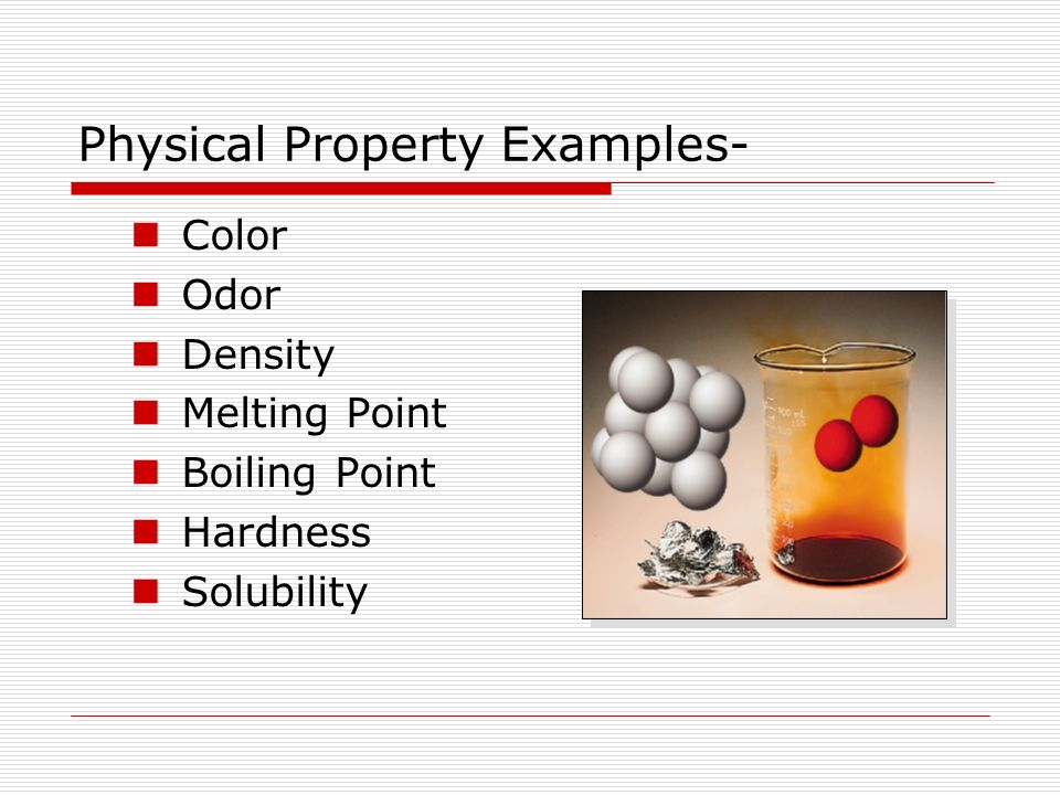 Is Color And Odor A Physical Property