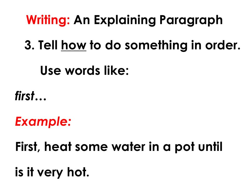 how to write an essay explaining