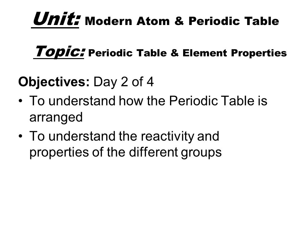 Modern atom periodic table ppt download topic periodic table element properties urtaz Choice Image