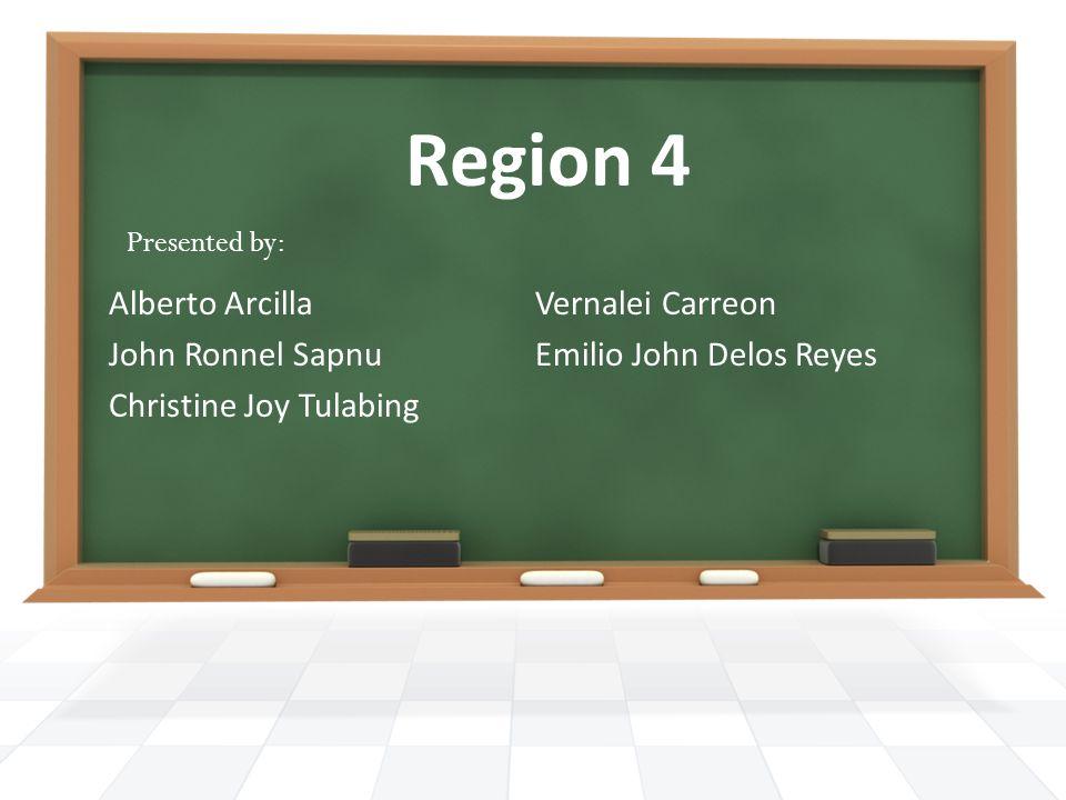 Region 4 Alberto Arcilla Vernalei Carreon