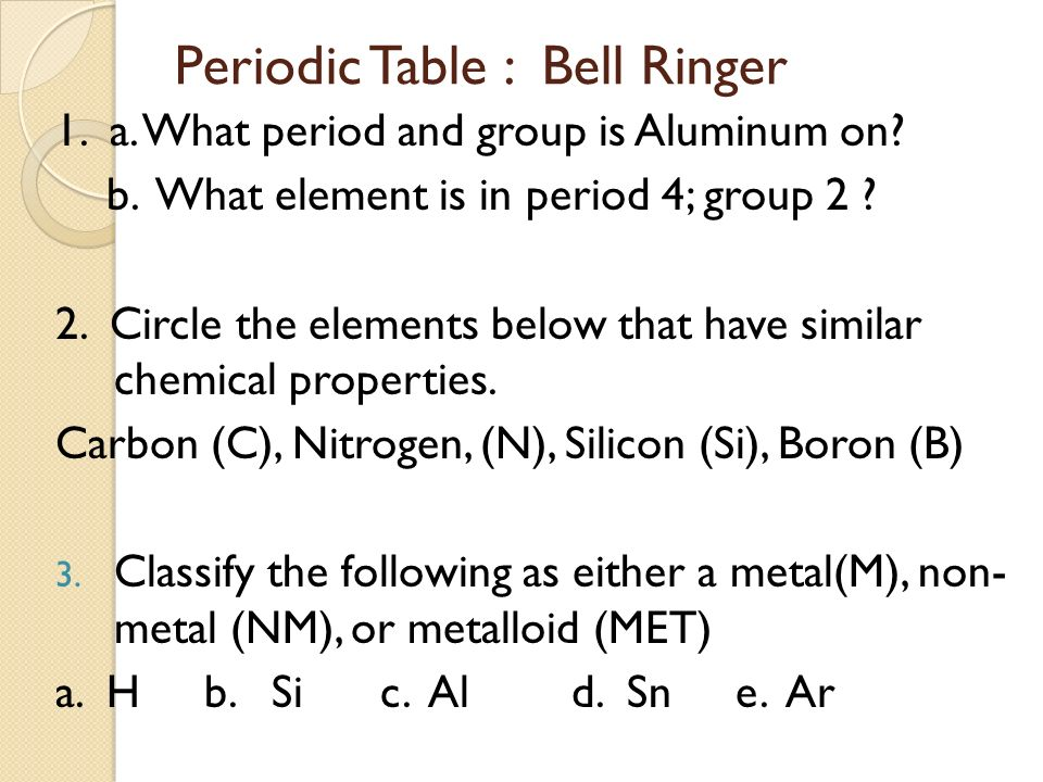 Periodic table if an element in group 2 of the periodic table icp periodic table infinite campus update ppt video online periodic table if an element in group 2 urtaz Gallery