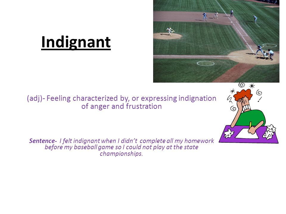 how to use indignant in a sentence