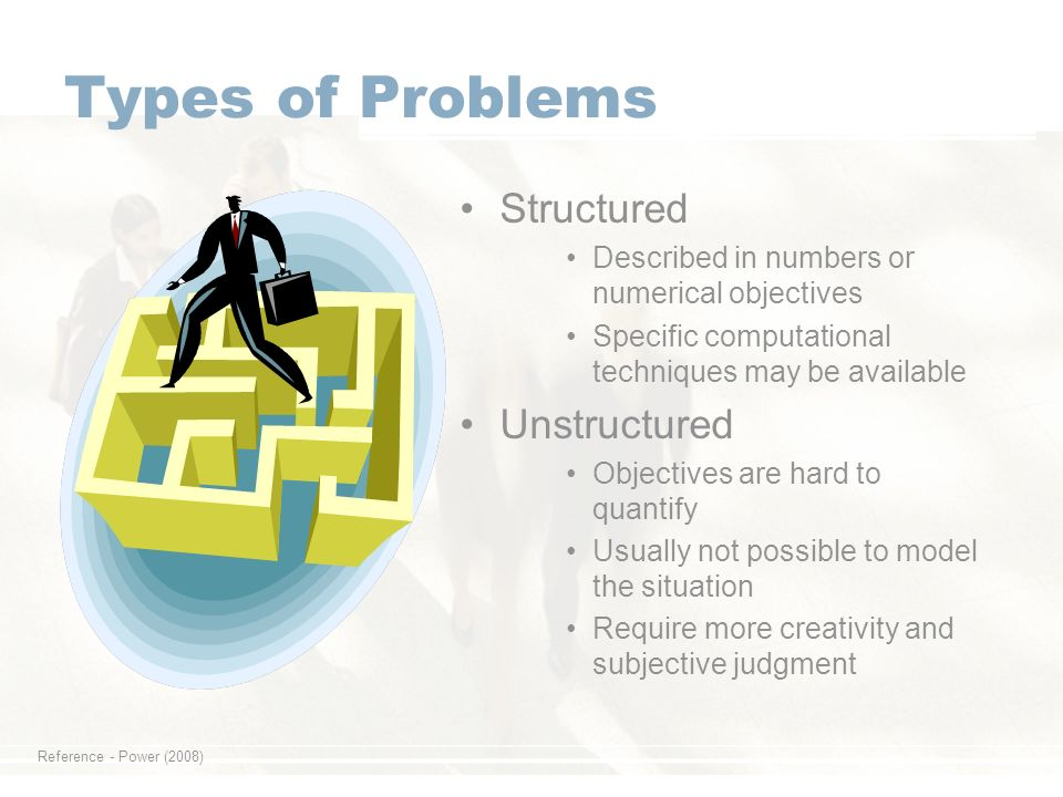 structured and unstructured problems The assigner has structured your work for you also, the assigner has given you a due date but the thesis is the thing that will prepare you to be an independent researcher, finding problems of interest to others, solving them, and presenting the solution in a compelling way although there are exceptions to this, for a phd,.