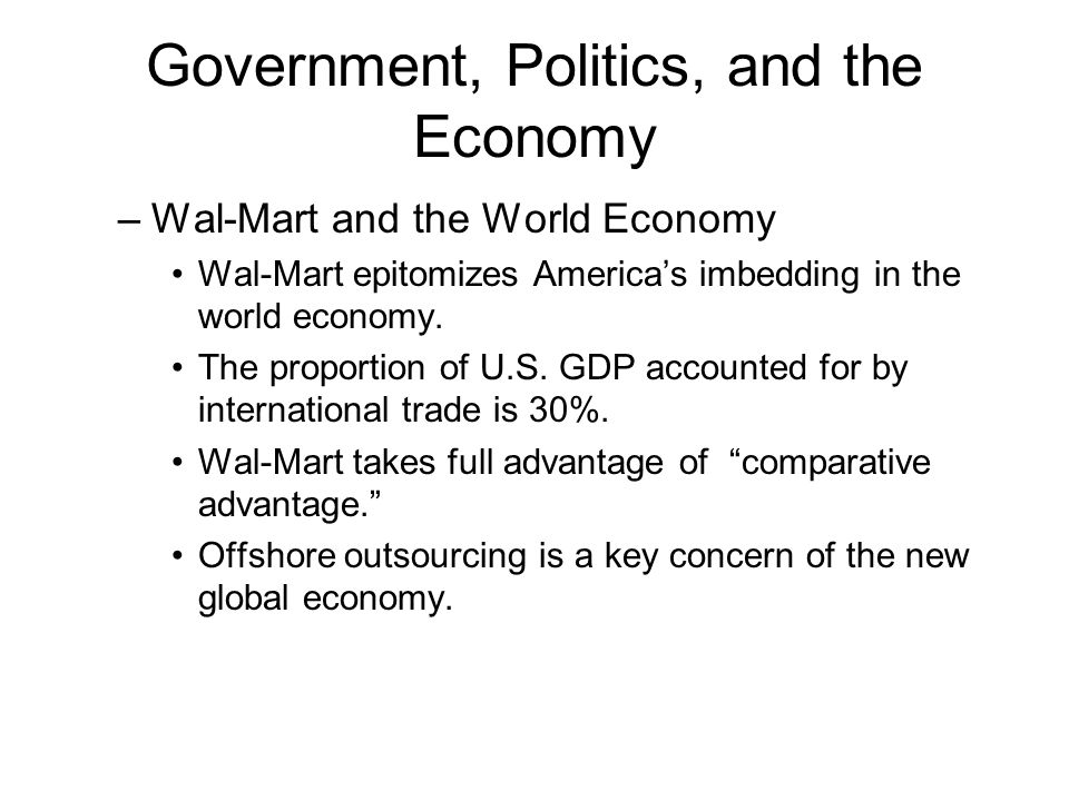 the american economy and wal mart economics essay Has walmart added to our economy or is it just exploiting workers  professor  of economics emeritus at ohio university, director of the.