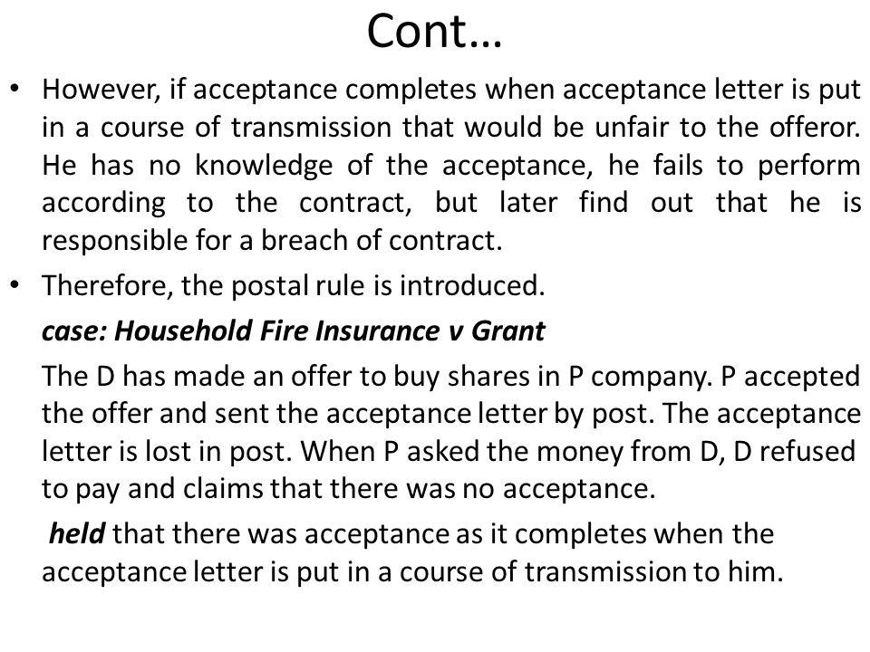 postal rule of acceptance essay Business law final essay draft pdf - question kumaran an the option relying on the postal rule stating the acceptance took place business law final essay.