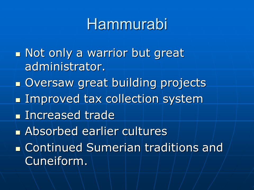 hammurabi a king of babylon who codified a complex law system Oooh hammurabi made the first codified system of laws  hammurabi became the sixth king of babylon after his  had a codified law before hammurabi, .