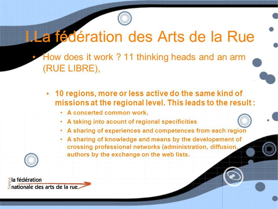 I.La fédération des Arts de la Rue