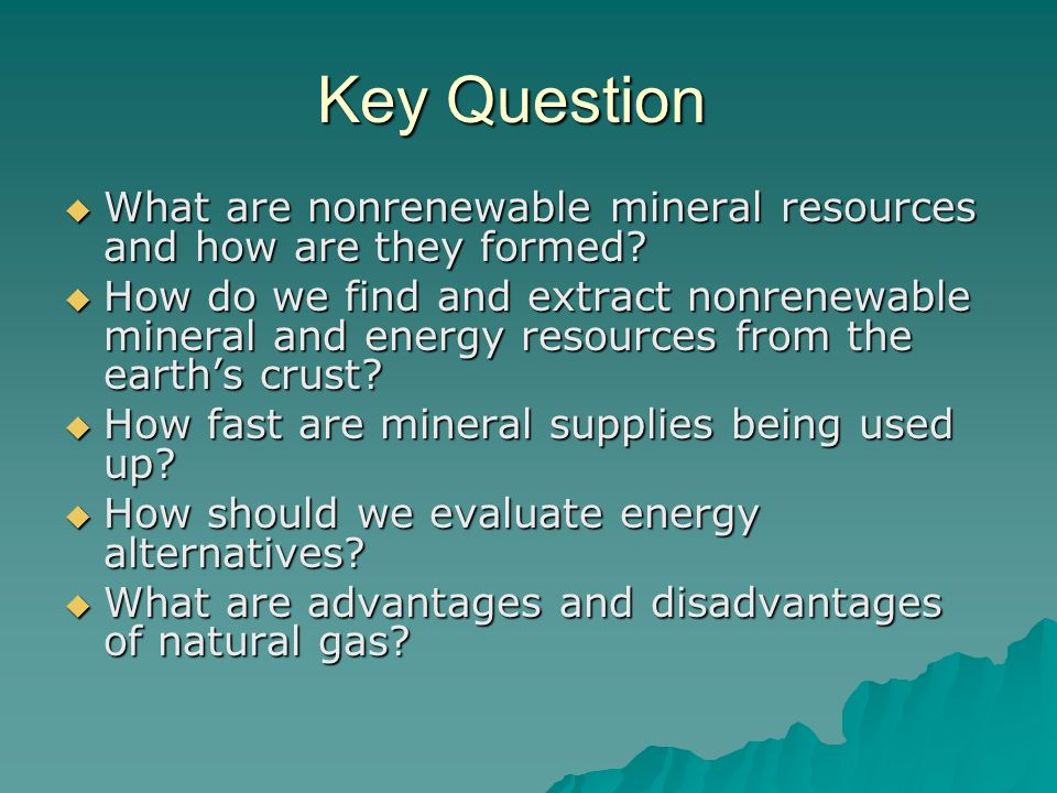 Natural Gas Copper Iron And Oil Are Classified As
