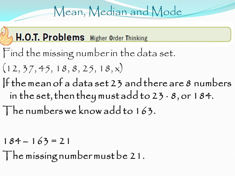 how to find the sample mean of a data set