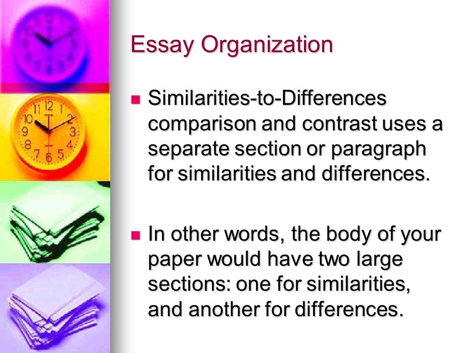 articles compare contrast essay English 120 compare/contrast essay in your first essay, you analyzed the complex argument of an essay of your choosing and discussed the problem that author presented and the various ways he/she supported that argument.