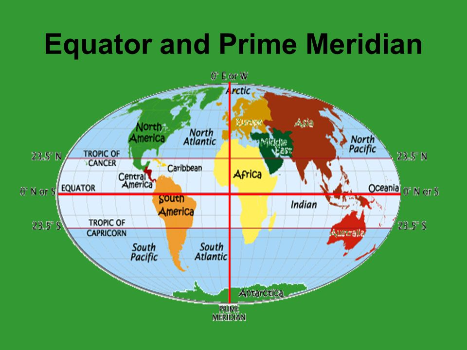 Map basics ppt video online download 2 equator and prime meridian gumiabroncs