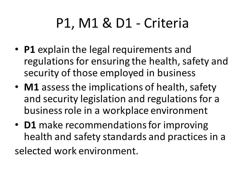 Unit 208: Understand Health & Safety In Social Care Setting