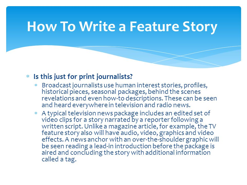 how to write a tv news package script