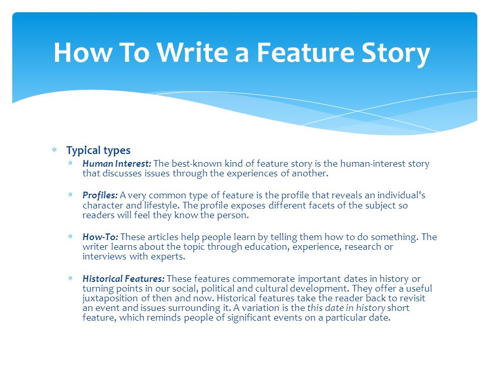 steps to writing a profile essay