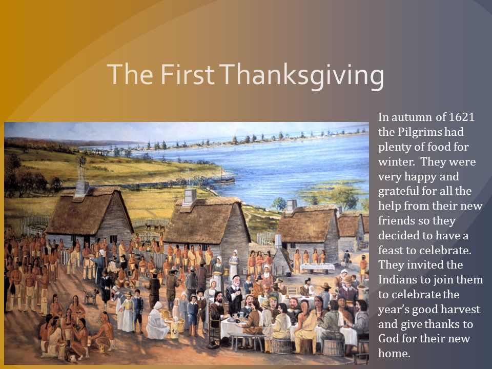 Thanksgiving an american tradition ppt download for What did they eat at the first thanksgiving