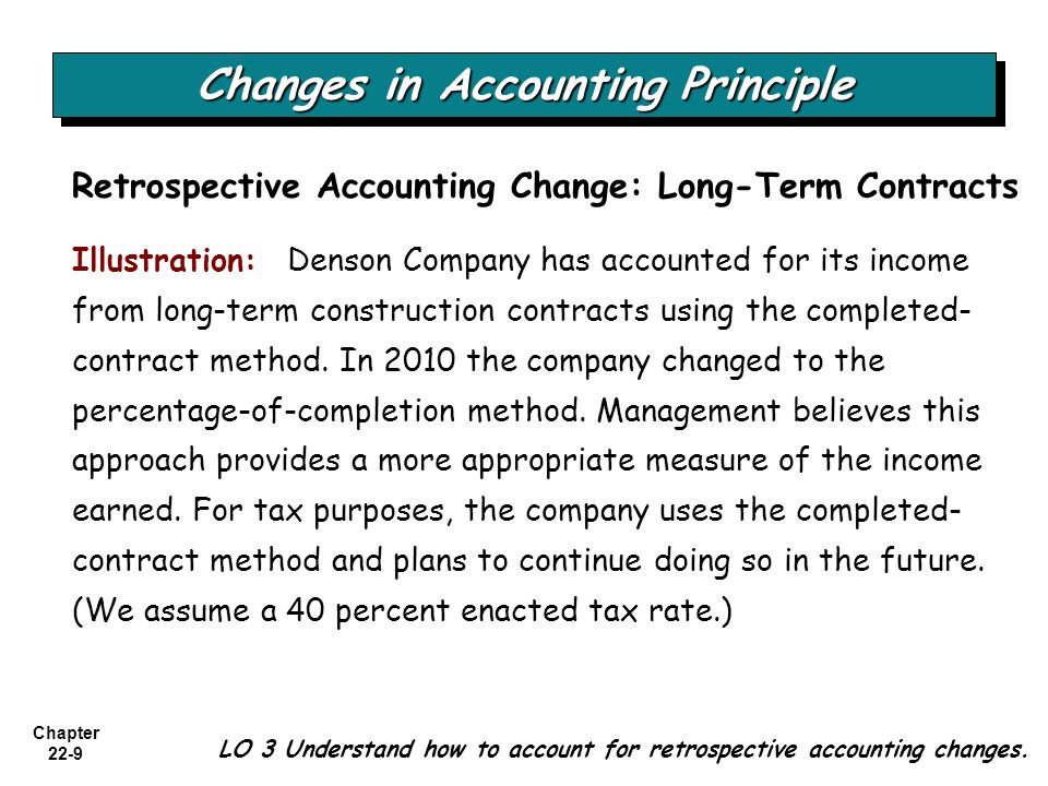Long-Term Methods of Accounting