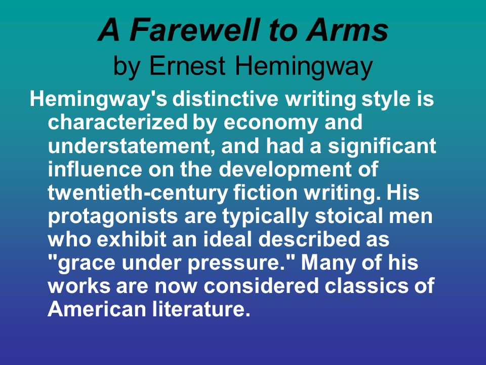 farewell to arms critical essay