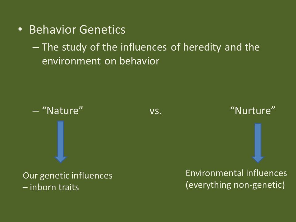Nature Heredity Vs Nurture Environment