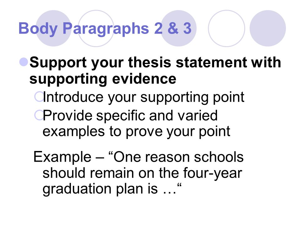 supporting points in your essay You need to identify several supporting points that substantiate your thesis these supporting points will be the main ideas of your outline.