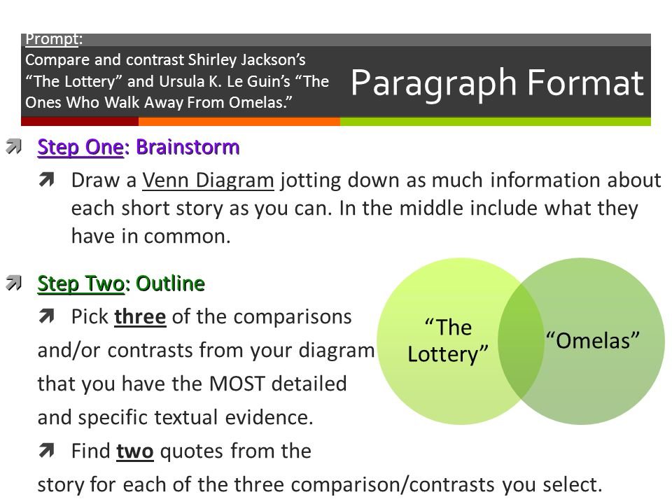 "comparing and contrasting the lottery and Shirley jackson's story ""the lottery"" is a short story which aroused a  the short  story and the movie share some similarities and differences since they both."