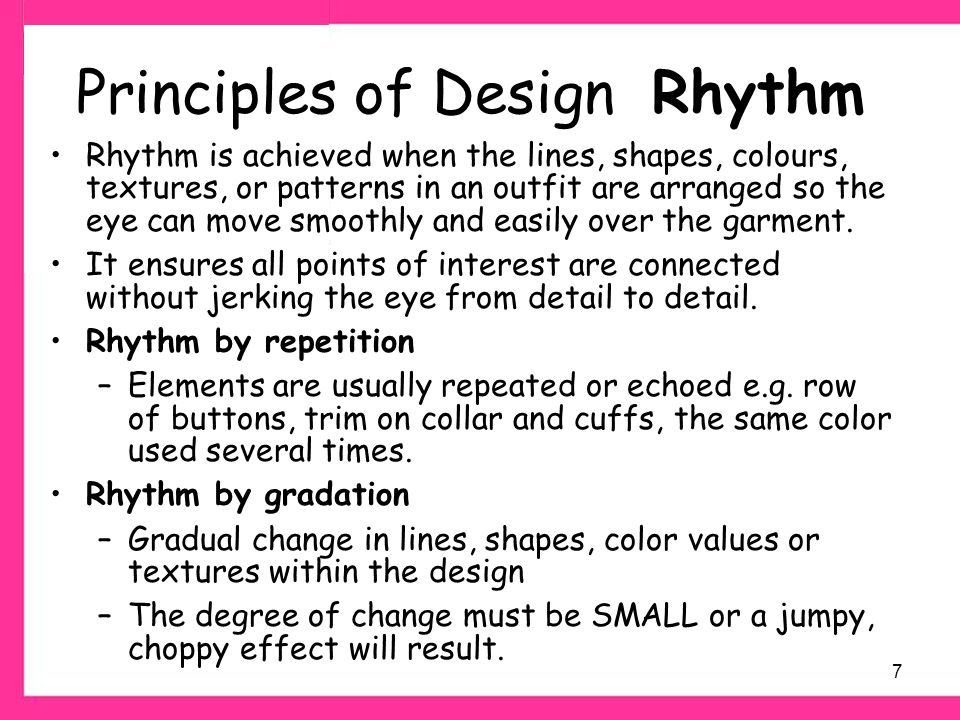 Elements And Principles Of Design Rhythm : All principles of design home