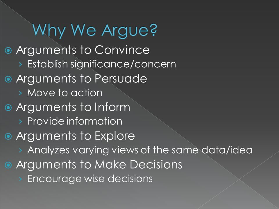 Why We Argue Arguments to Convince Arguments to Persuade