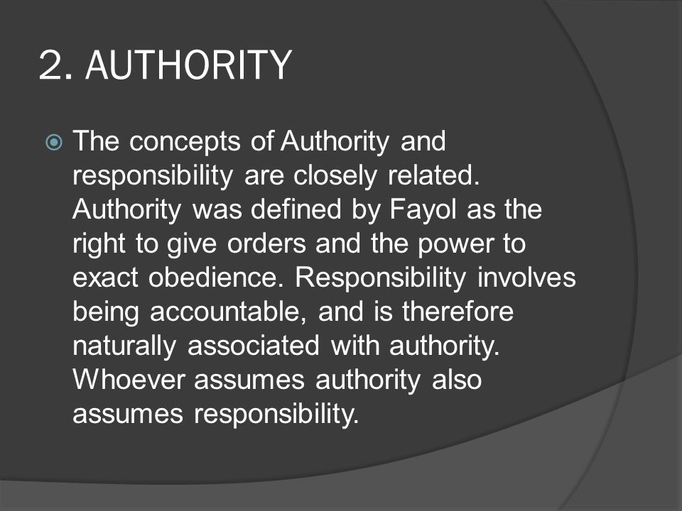 2. AUTHORITY